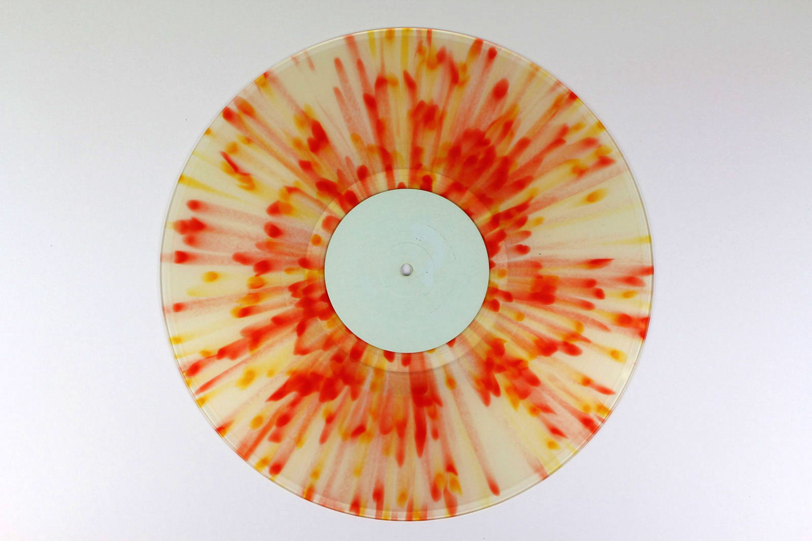 clear / Splatter: red transparent, yellow