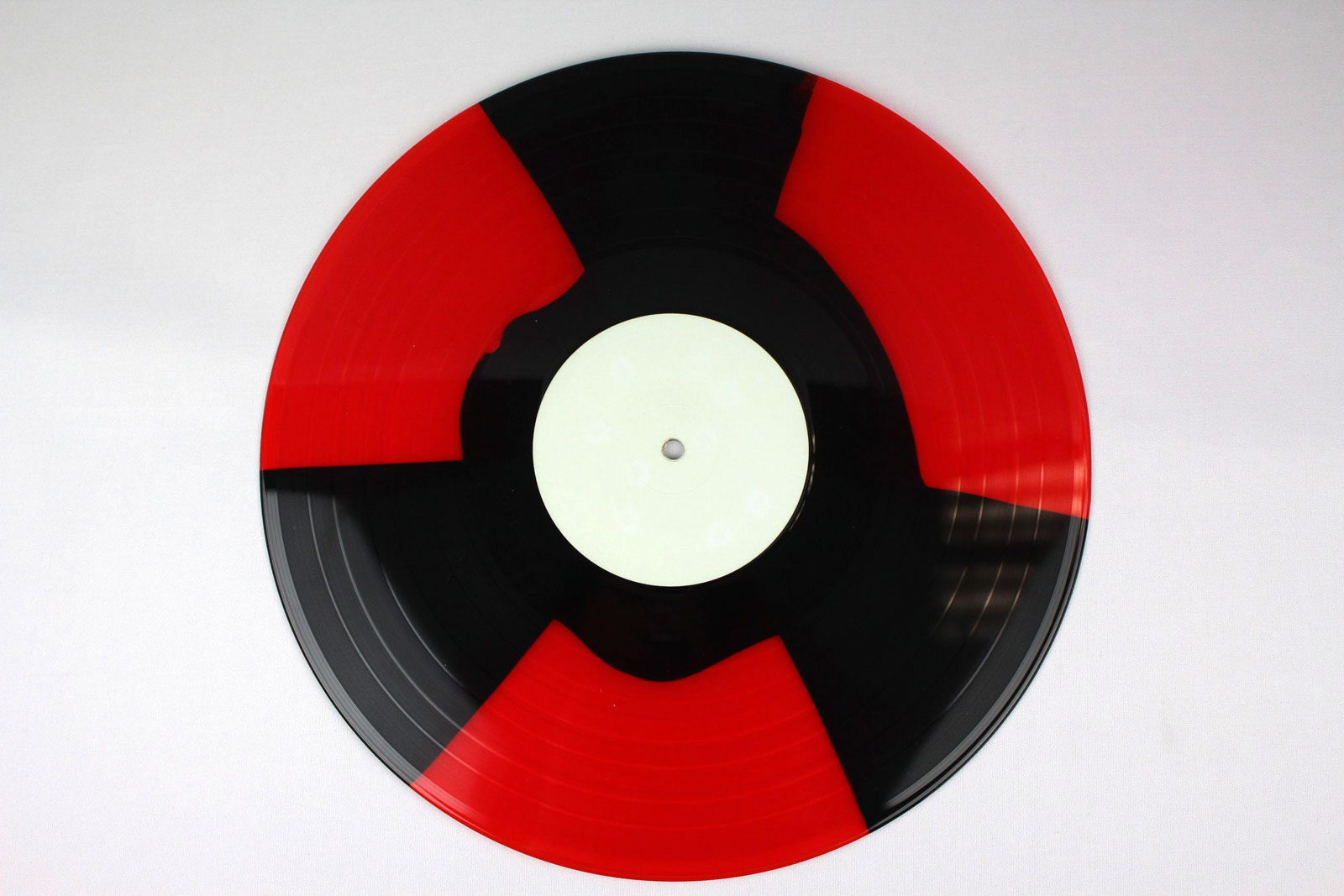 red transparent / coloured circle and dab: black